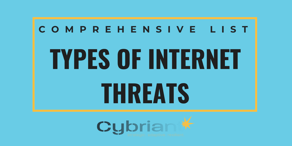 Comprehensive List of All Types of Internet Threats