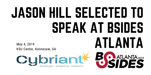 Jason Hill selected to speak at BSides Atlanta