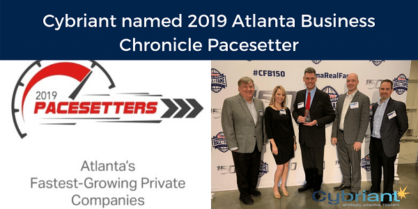 Cybriant named 2019 Atlanta Business Chronicle Pacesetter