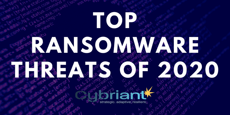Top Ransomware Threats of 2020