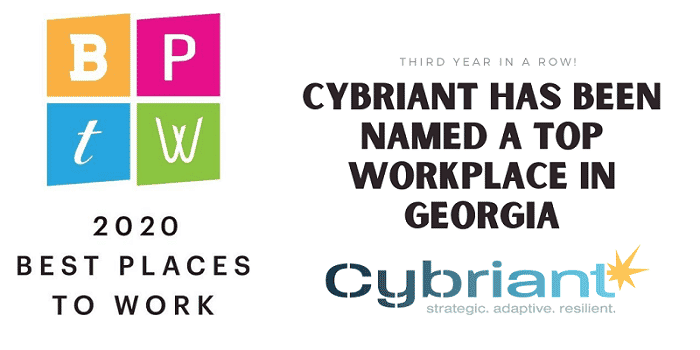 Third Year in a Row! Cybriant Has Been Named a Top Workplace in Georgia