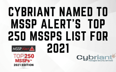 Cybriant Named to MSSP Alert's  Top 250 MSSPs List for 2021